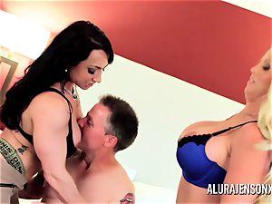 Alura Jenson mummy threesome nail with Brandi May