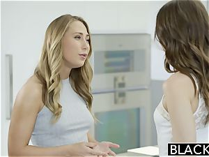 Riley Reid and Carter Cruise satiate ebony pecker together
