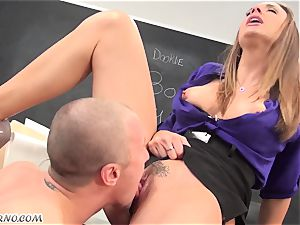 My kinky fuck-a-thon educator Chanel Preston pounds me in the classroom
