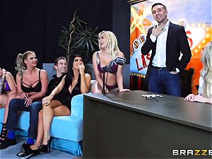 red-hot sloppy fun with Brandi love and her femmes