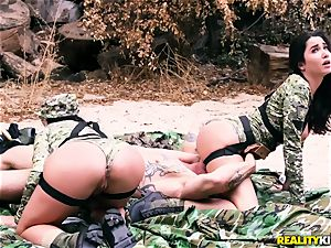 Angela white, Karlee Grey - sizzling army fucksluts with meaty boobies