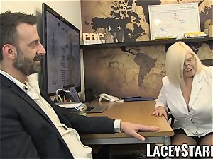 LACEYSTARR - GILF licks Pascal white jizm after hookup