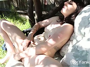 black-haired Dion jacking Outdoors