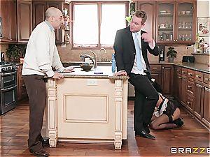 molten black maid almost get caught