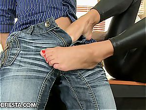 nasty Willa uses her soles and donk to please