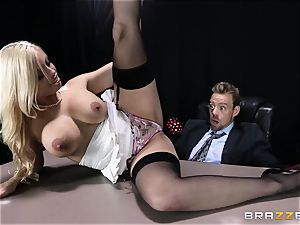 messy manager is given a doable buttfuck fantasy by Britney Amber