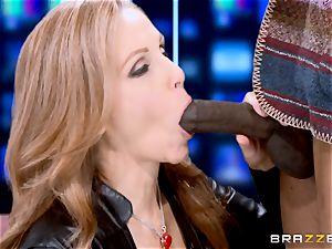 Julia Ann has a taste of a humungous ebony stiffy