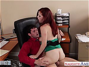 redhead bombshell in glasses Penny Pax boink in the office