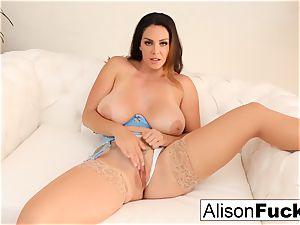 Alison Tyler rubs her gash