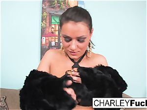 Charley flashes off her super-sexy assets