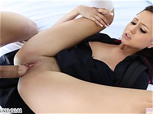 brother plows his junior sister Ariana Marie after lessons