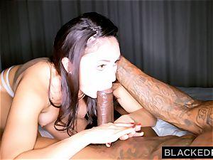 BLACKEDRAW horny dark haired wifey loves ebony trouser snake in her motel room