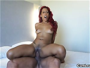 Latina wants to deep-throat a enormous boner