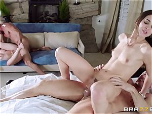 Riley Reid and Dakota James pulverized by each others dads