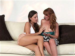 Abigail seduces her little redhead mate