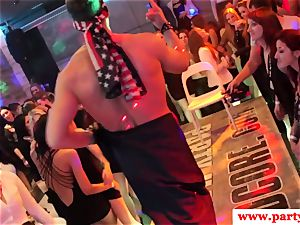 cocksucking euro stunner draining spunk-pump at party