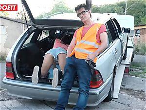 LETSDOEIT - teenager penetrates senior boy For Free Car Repair