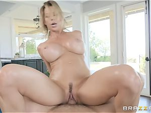 well-lubed and penis plowing Alexis Fawx