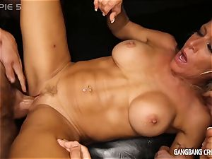 Gilf Gina Gets pummeled by a gang of men