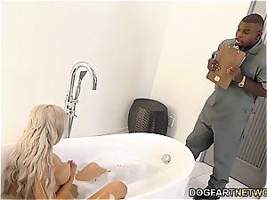 cuckold beau observes Nina Elle fucking big black cock