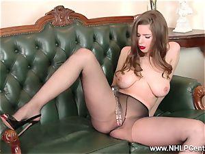 babe fat inborn boobies tears up fat fucktoy in nylon stockings