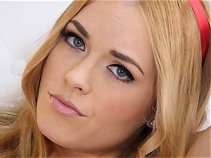 bare getting off with ginger-haired Bailey Rayne