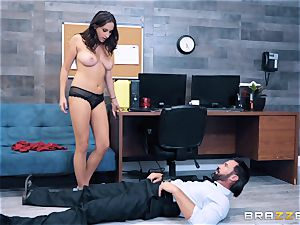Ashley Adams takes on cop wood