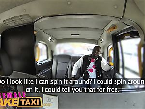 damsel fake cab steaming perspiring fuckin' pays cab fare