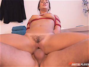 Eva Lovia tied up and ravaged