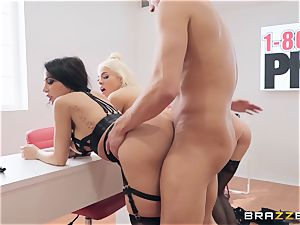 Lela and her nymphs pounding man meat
