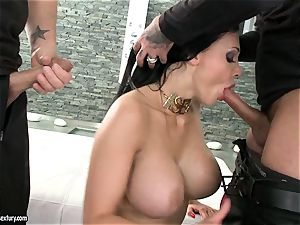 sultry hoe Aletta Ocean gets 2 rigid chubs throating it super-steamy one at a time
