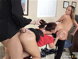 Jada Stevens shares a doctors schlong with Mischa Brooks