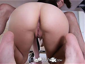 Tiny4k celebration pummel and facial cumshot for Kira Adams