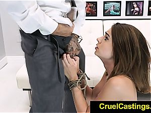 Joseline Kelly restrained while worshipping knob