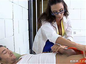 splendid prison doctor Ariella Ferrera milks off her patient