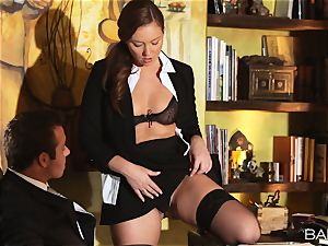 Maddy OReilly is boned over the desk by the chief