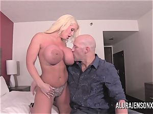 big boob platinum-blonde Alura Jenson screwing a jumpy client