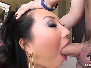 Asa Akiras sloppy deep throat