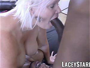 LACEYSTARR - big black cock dual crew works on horny grandmother