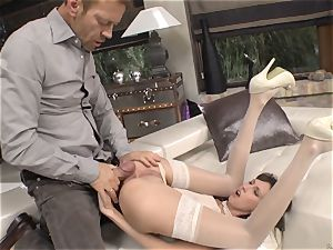 Rocco Siffredi butt penetrating Nadia Bella and her acquaintance