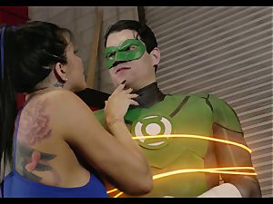 Superhero League. Part 1 Green Lantern and queen Diana
