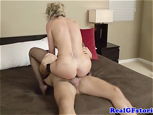 super-steamy blond housewife mummy ravaged