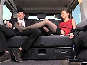 ravaged IN TRAFFIC - brit Tina Kay fucked in the car