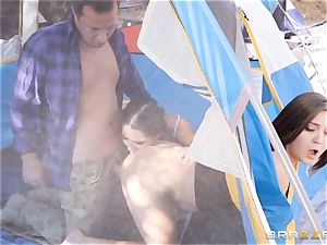 cumswapping camping bombshells Karlee Grey and Jojo kiss