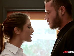 buxomy freshly wed August Ames rekingling the flames with her spouse