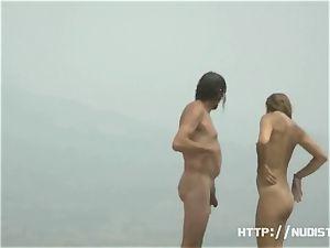 naked beach voyeur spyes on cool nymphs