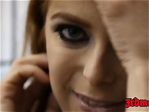 redhead succubus Penny Pax pulverized into blasting