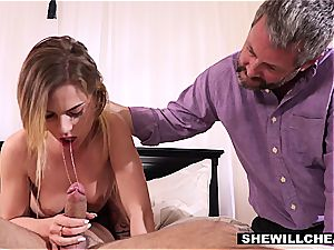 Holding my Wifes Hair While She deepthroats Another Mans dick