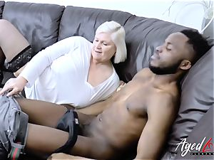 AgedLovE humungous black boner and blondie Mature chubby