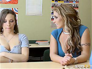 Eva Notty and Lily enjoy pulverize a professor